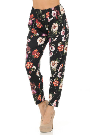 Brushed Vintage Royal Floral Harem Pant