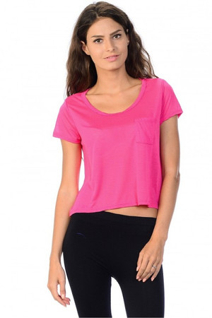 Light Weight Short Sleeve Asymmetrical Loose Fit T-Shirt