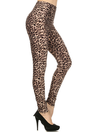 Side Image of Soft Brushed Feral Cheetah Leggings