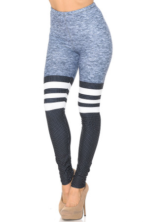 Creamy Soft Split Sport Leggings - USA Fashion™