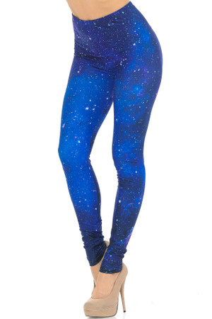 Creamy Soft Blue Galaxy Extra Small Leggings - USA Fashion™