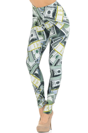Creamy Soft Cash Money Extra Small Leggings - USA Fashion™