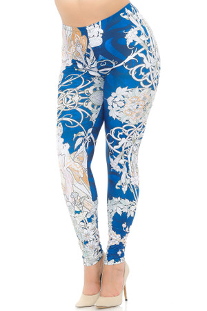Creamy Soft Twisted Eden Vine Plus Size Extra Plus Size Leggings - 3X-5X - USA Fashion™
