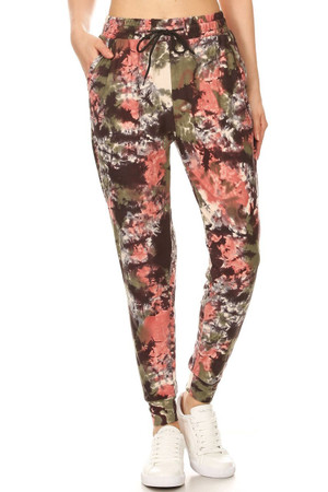 Brushed  Evening Twilight Tie Dye Joggers