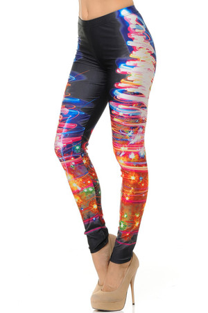 Electric Christmas Tree Leggings