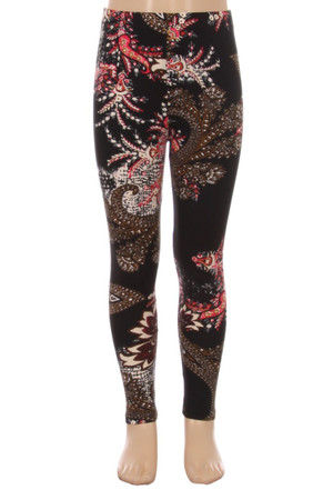 Brushed Berry Plume Kid's Leggings