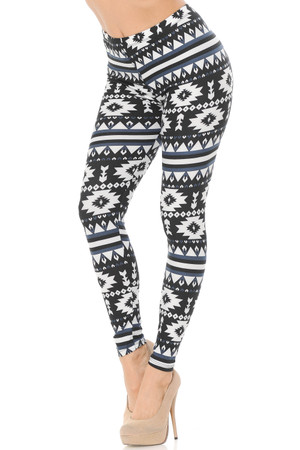 Brushed Equinox Tribal Plus Size Leggings