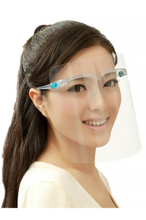 Detachable Full Transparent Face Shield - Clear Colored Support Glasses