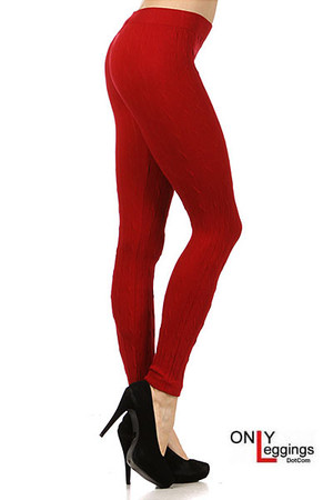 Red Seamless Sweater Leggings