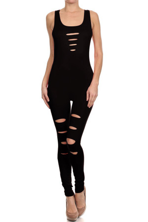 Slashed Basic Diva Jumpsuit