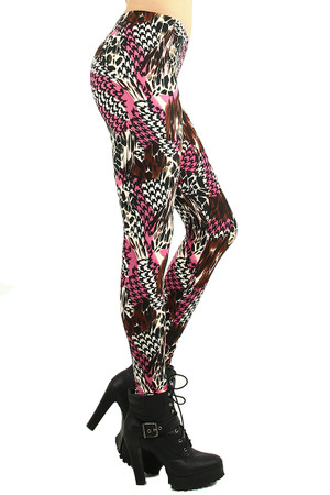 Safari Houndstooth Leggings