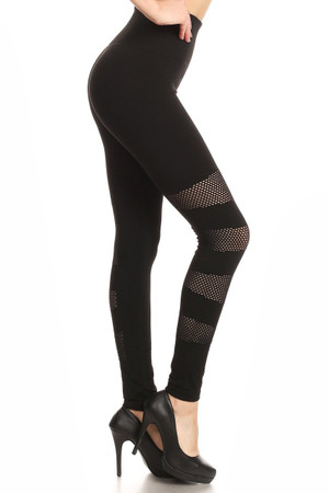 Wholesale Premium Multi Patch Mesh Sport Leggings