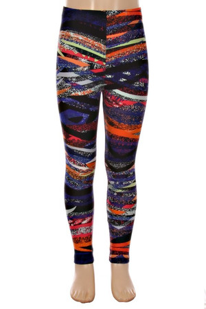 Wholesale Buttery Soft Bands of Colors Kids Leggings