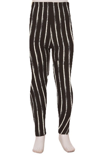 Brushed Rustic Pinstripe Kids Leggings