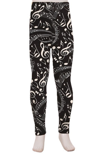 Brushed Music Note Kid's Leggings
