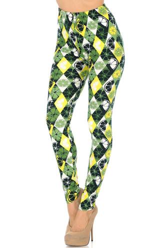 Brushed Luck of the Irish Lime Leggings