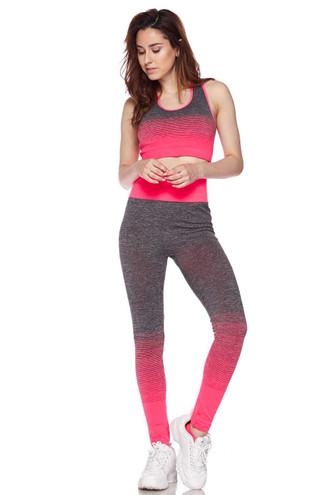 Premium 2 Color Ombre Sport Bra and Legging Set