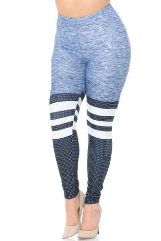 Creamy Soft Split Sport Plus Size Leggings - USA Fashion™