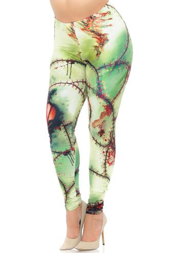 Creamy Soft Zombie Extra Plus Size Leggings - 3X-5X - USA Fashion™