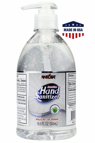 6 Pack - 500ml Panrosa Alcohol Free Hand Sanitizer with Aloe - Made in the USA