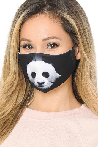 Panda Graphic Print Face Mask