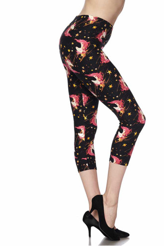 Buttery Soft Twinkle Unicorn Plus Size Capris