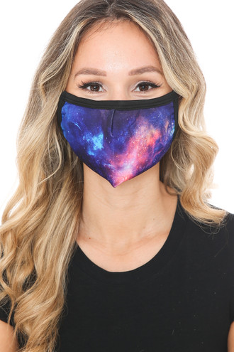 Nebula Galaxy Graphic Print Face Mask