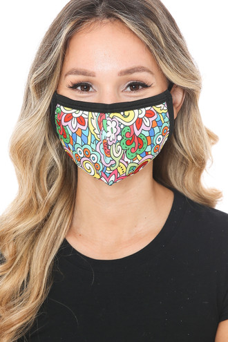 Far Out Floral Graphic Print Face Mask
