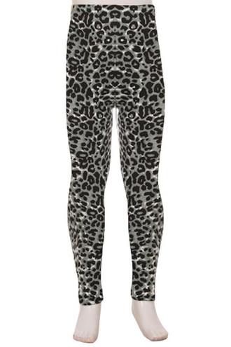 Buttery Soft Snow Leopard Kids Leggings