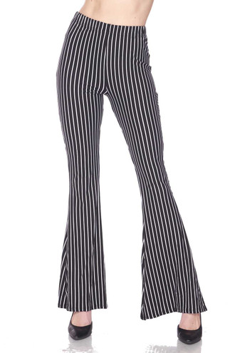 Buttery Soft Pinstripe Bell Bottom Leggings