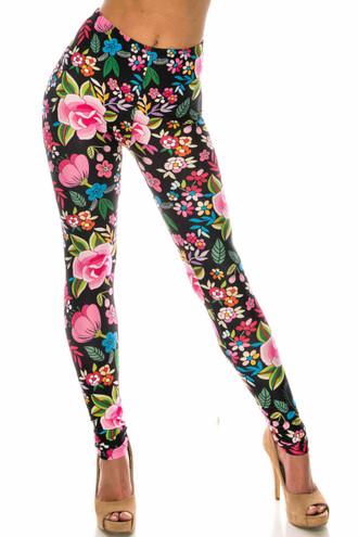 Creamy Soft Floral Oasis Leggings - USA Fashion™