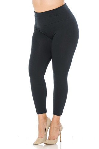Wholesale High Waisted Fleece Lined Plus Size Leggings - New Mix