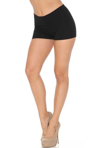 Black USA Cotton Boy Shorts