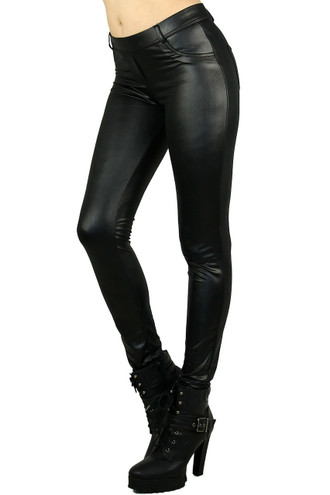Black Matte Liquid Jean Style Leggings
