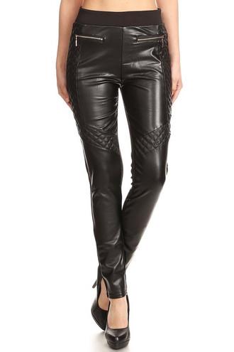 Nemesis Fleece Lined Faux Leather Leggings