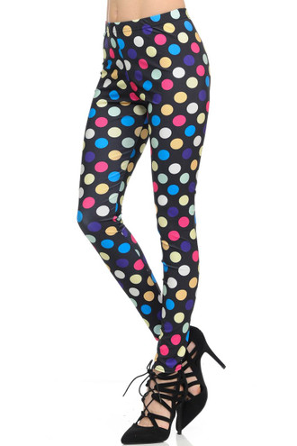 Colorful Jumbo Polka Dot Leggings