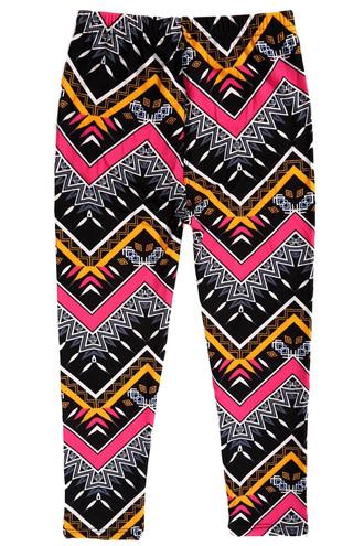 Colorful Tribal Chevron Kids Leggings