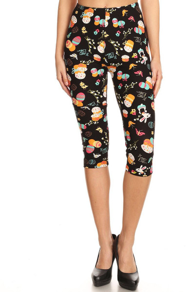 Brushed Easter Extravaganza Plus Size  Capris