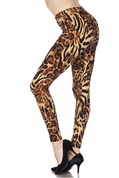Soft Brushed Predator Leopard Plus Size Leggings