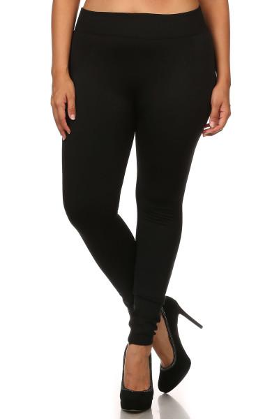 Front image of Premium Women's Fleece Lined Plus Size Leggingss