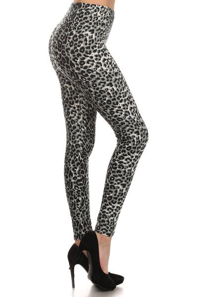 Brushed  Snow Leopard Leggings