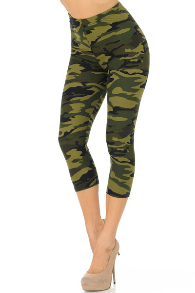 Buttery Soft Lavish Garden Plus Size Capris