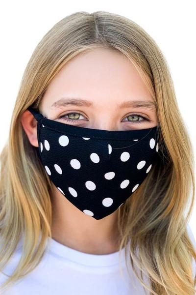 Kid's Polka Dot Face Mask - Made in the USA