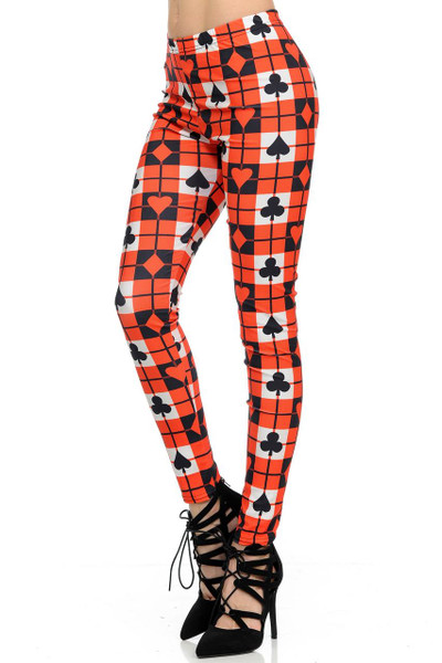 Playing Card Plaid Leggings