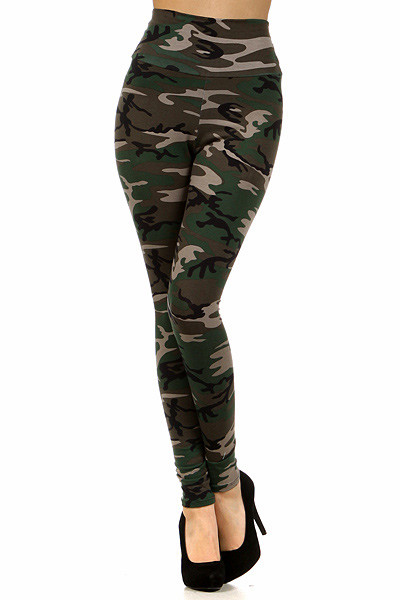 High Waisted Camouflage Leggings