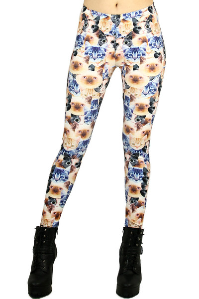 Kitty Cutie Leggings - Plus Size