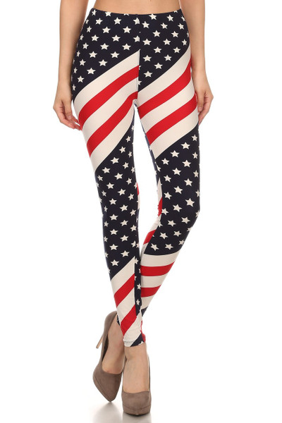 Mini Star Twist USA Flag Leggings