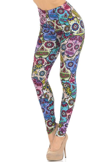 Creamy Soft Sugar Skull Leggings - USA Fashion™