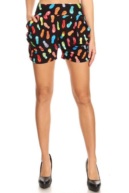 Brushed Summer Beach Sandal Shorts