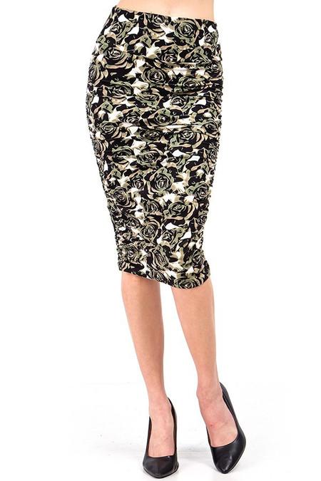 Brushed  Olive Rose Skirt